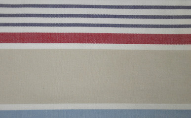 Detail of striped natural empty textile texture background