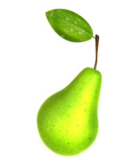 Fresh Yellow Green color Pear. Foods and Dishes Series.