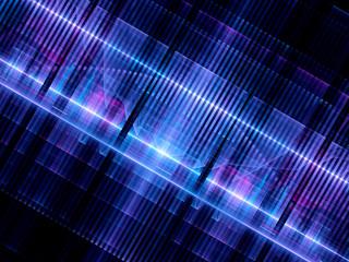 Multicolored glowing futuristic hardware chip