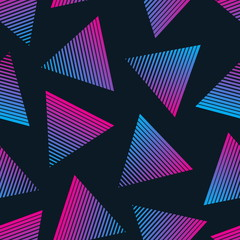 Vector 80s Retro Style Seamless Pattern. Fashion Background