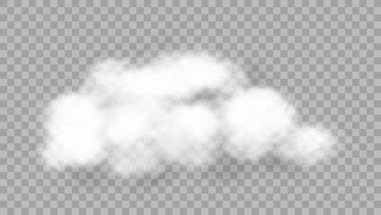 Realistic Cloud On Transparent Background