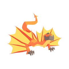 Dragon mythical and fantastic animal vector Illustration
