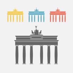 Brandeburg gate. Berlin symbol.