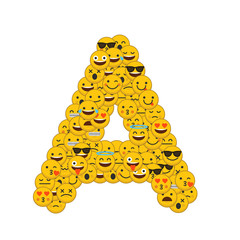 Emoji smiley characters capital letter A