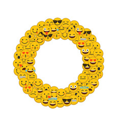 Emoji smiley characters capital letter O