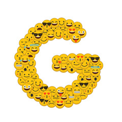 Emoji smiley characters capital letter G