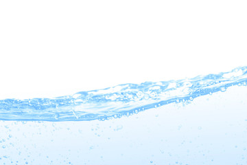 Bubble of water isolated on white background with space for copy.