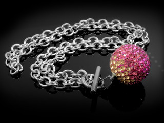Necklace Balls - Silver Stainless Steel