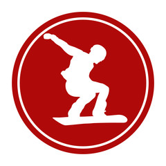 sports sign icon male athlete snowboarder