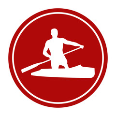 sports sign icon male athlete сanoeing