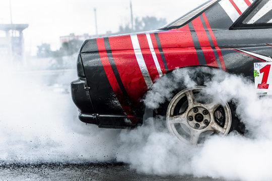 racing car drifting