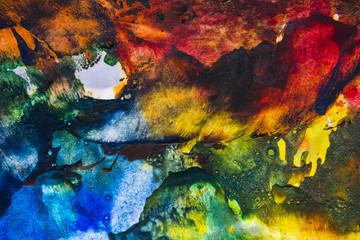 an encaustic colors - texture on a paper