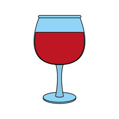 transparent wine glas icon