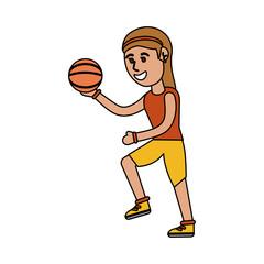 girl doing basketball sport