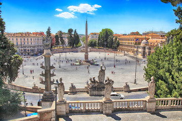 Piazza del Popolo (People's Square) in Rome, Italy