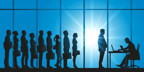 file d'attente - candidat - embauche - sélection - employeur - candidature - sélectionner