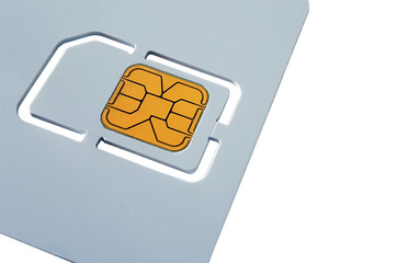 Blank sim card template