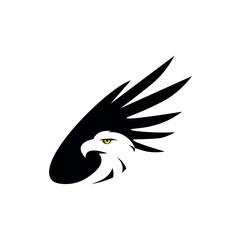 black eagle icon illustration isolated vector sign symbol