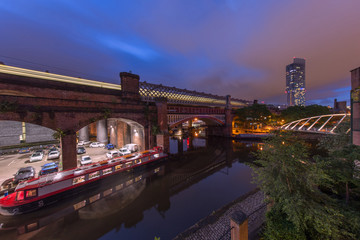 Castlefield Basin at Night