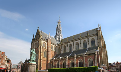 Grote Kerk is a protestant church located in the city center of Haarlem.