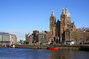 View at Basilica of St. Nicholas in Amsterdam