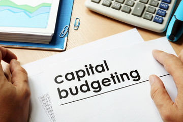 Papers with title capital budgeting. Wall mural