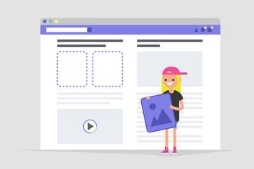 Webdesign. Site construction. Conceptual illustration / flat editable vector illustration, clip art