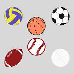 Sports balls set for soccer