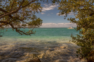 Seashore View in the Keys. Exposure done in this beautiful island of the Keys, USA..