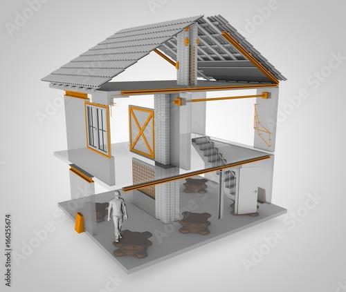Casa antisismica ecco come fatta 3d rendering tutti for Case in giappone