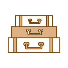 suitcase travel isolated icon