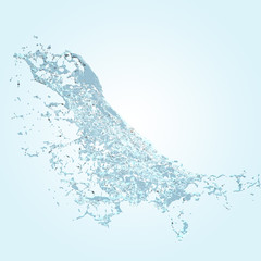 water splash shape. Abstract 3d rendering illustration