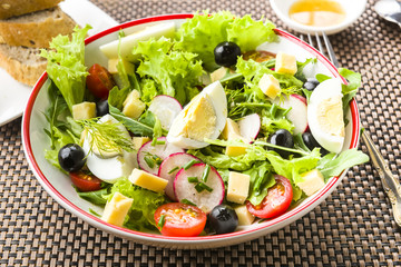 Light meal - salad with rucola
