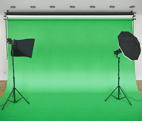 Green Studio Backdrop