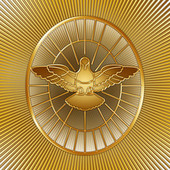 Holy Spirit symbol, Saint Peter, Rome, graphic elaboration, illustration