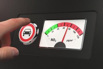 Anzeige Stickstoffdioxid - Button Fahrverbot