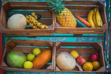 Tropical Fruit Display crates