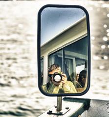 Photogrpher reflex on mirror