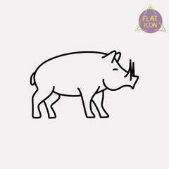 boar line icon