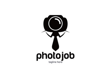 Photo Job Logo Template Design Vector, Emblem, Design Concept, Creative Symbol, Icon