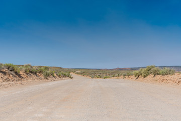 Low Angle of Dirt Road in Utah