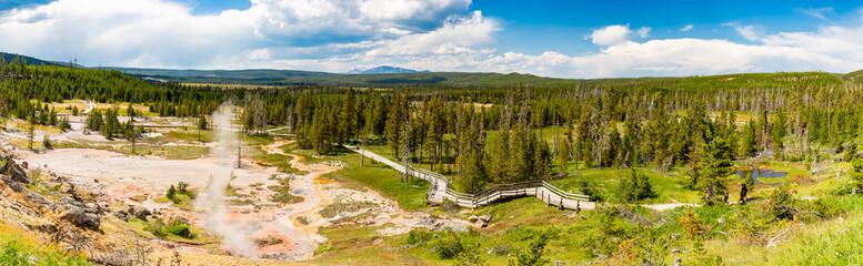 Yellowstone Artisian Paint Pots Panorama