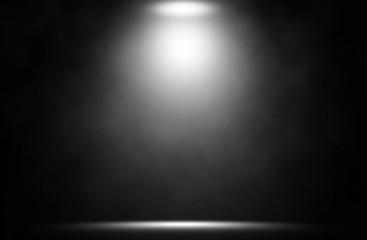 In de dag Licht, schaduw White spotlight on stage entertainment backdrop.