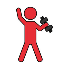 Fitness man pictogram