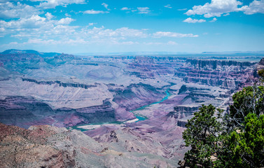 Sights of the Grand Canyon National Park. The Colorado River Valley