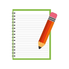 notebook school with pencil
