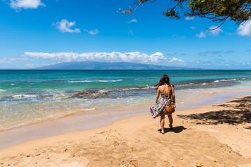 マウイ島ホノコワイのビーチ