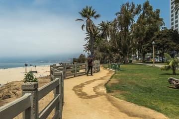 Santa Monica Beach and Palisades Park