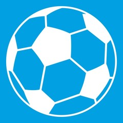 Soccer ball icon white