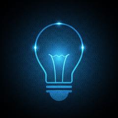 technology future light bulb binary